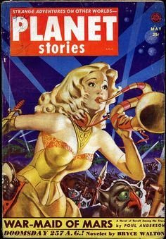 Planet Stories (May 1952)  Planet Stories had some great 'good girl' artists doing covers.