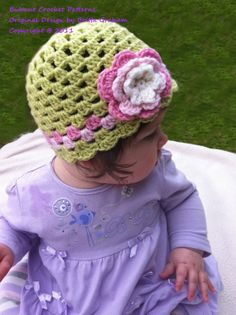 Shell Trim Crochet Baby Hat Pattern No203 EMailed2U by BBfromOz, $4.00