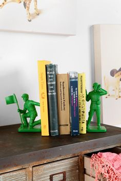 Toy soldier bookends from Urban Outfitters. Reminds me so much of Toy Story!