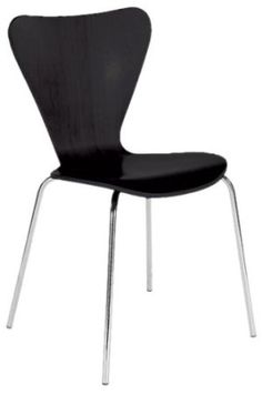 Amazon.com: ITALMODERN Tendy Stacking Chair, Black, Set of 4: Home & Kitchen $322