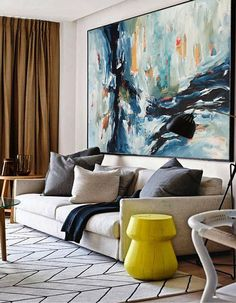 Original Abstract Art by Omar Obaid and other artists, South Shore Decorating Blog