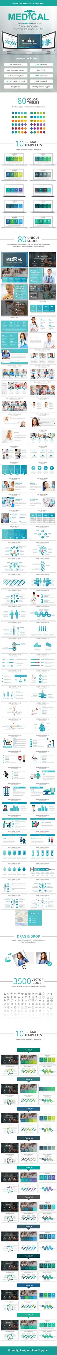 Medical PowerPoint Presentation Template - Creative #PowerPoint #Templates