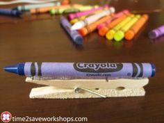 Crayon Clothespin Magnets!