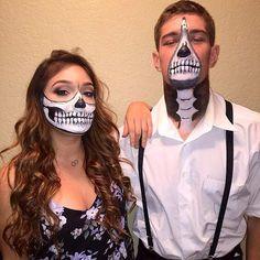 Couples Skeleton Makeup Idea