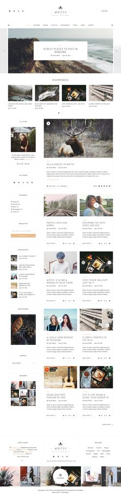 Writsy is versatile WordPress #theme for wide-range of #blogs #niches such as personal blog, #fashion, photography, travel. Download Now!