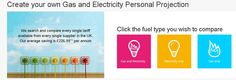 Create your own Gas and Electricity Personal Projection http://comparetheenergymarket.com/ #comparetheenergymarket