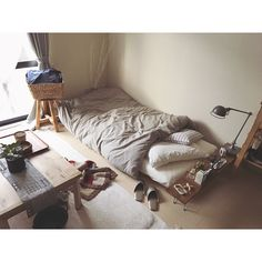 Bedroom/無印良品/ナチュラル/アンティーク/寝室/ベッド...などのインテリア実例 - 2017-12-18 11:50:27