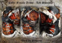 Celtic Female Armor Shoulder - WIP by Deakath.deviantart.com on @deviantART
