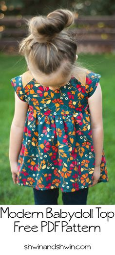 "size 5/6, 2"" chest. So cute  Modern Baby Doll Top 