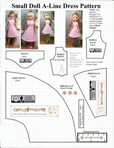 Sewing Barbie Clothes, Barbie Sewing Patterns, Doll Dress Patterns, Sewing Dolls, Dress Sewing, Skirt Patterns, Cloth Patterns, Sewing Coat, Blouse Patterns