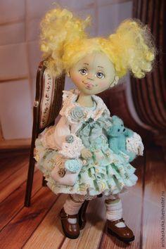 Мимозка. Кукла авторская текстильная .Кукла ручной работы - коричневый, бежевый, handmade