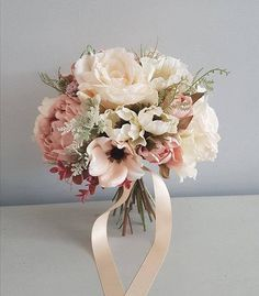 Blush silk bridal bouquet wedding bouquet Bridal bouquet