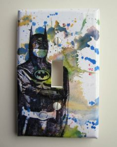 Batman Decorative Light Switch Plate Cover. $9.00, via Etsy. My son would love this!