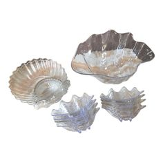 Beautiful collection of 11 lucite shell shaped serveware, perfect for a Mediterranean themed party. 1 Large serving plate 2 Medium serving plates 8 Small serving plates Large serving plate is x x Medium serving plates are x x Small serving plates are x Overlays, Photo Collage Maker, Glue Gun Crafts, Shell Ornaments, Butterfly Crafts, Crafts For Boys, Shell Crafts, Disney Crafts, White Aesthetic
