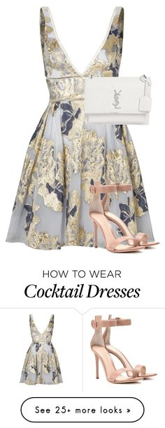 """Ysl"" by sez99 on Polyvore featuring Notte by Marchesa, Yves Saint Laurent and Gianvito Rossi"