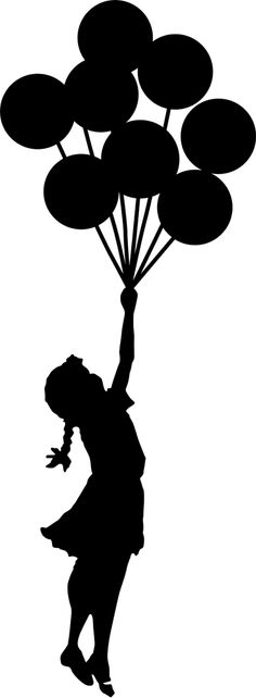 Share your love of street art with this decal illustrating one of Banksy's most poignant and relevant images. Graffiti Art, Silhouette Portrait, Silhouette Art, Banksy, Laptop Decal Stickers, Flying Balloon, Its A Girl Balloons, Crayon Art, Stencil Art