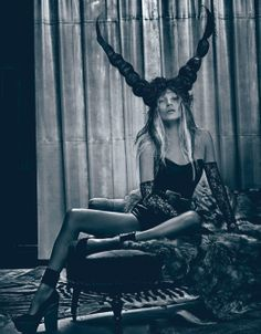 Kate Moss Turns 40 - Bad Kate photographed by Steven Klein, styled by Edward Enninful; W Magazine March 2012.