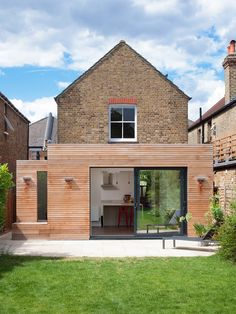 Semi detached house extension ideas exterior contemporary with exterior lights wood cladding exterior cladding 1930s House Extension, House Extension Plans, House Extension Design, Extension Designs, Glass Extension, Roof Extension, Extension Ideas, Kitchen Extension Flat Roof, Wood Cladding Exterior