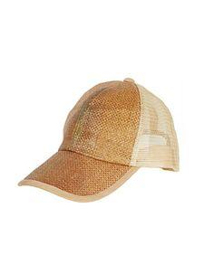 Natural Straw Baseball Hat