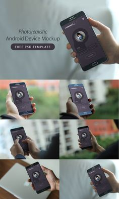 Awesome Photorealistic Android Device Mockup Free PSD Templates. Download Photorealistic Android Device Mockup Free PSD Templates. Showcase your work with style in this Android Device Mockup Free PSD Templates in a realistic environment. Just simply drop a screenshot of your app in Smart Object and See you App design in 6 Different Mockup Template and choose the one you really like. You can use it for presentation or non-commerical purposes. Hope you like it. Enjoy!