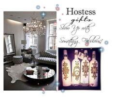 """Custom Wine Bottles"" by poshtori on Polyvore featuring interior, interiors, interior design, home, home decor, interior decorating, Hostess, holidays, hostessgifts and PoshLifeBling"