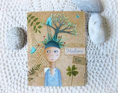 Carte postale illustrée - * Madame Été * : Cartes par la-boite-a-malices-de-bidouille