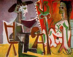 El pintor y su modelo. 1963. Óleo sobre lienzo. 130 x 162 cm. Colección particular. Nueva York. USA