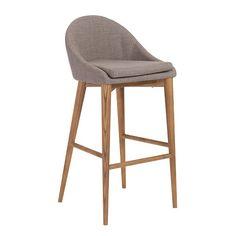 Baruch-B Bar Stool Dark Gray/Walnut | Contemporary Furniture Warehouse