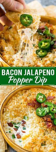 Jalapeno Popper Dip with Bacon Recipe   Cheesy Dip   Easy Appetizer   Jalapeno Poppers   Bacon Dip