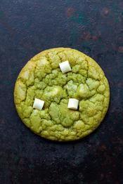 Recette cookie au chocolat blanc et thé matcha