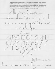 Just learned about this script from my Calligraphers Guild and was thrilled to find more info about it here kathharney.com