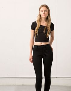 Jeans Super Skinny tiro medio Bershka - Super Skinny - Bershka Venezuela
