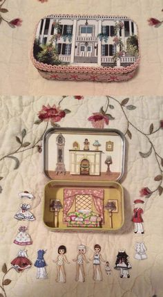 Purse Playhouse Altoid Tin: Paper doll house meant to be carried in the purse and used to keep a child busy when on the go.