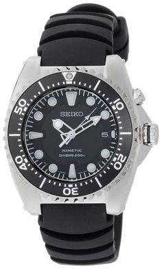 Seiko Men's SKA413 Adventure Kinetic Diver Watch Seiko. $238.76
