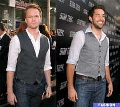 Men in Vests. Not sure why there is a whole blog dedicated to this, but like NPH's vest on the left