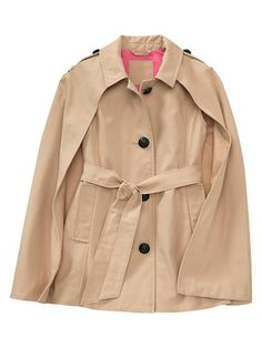 Gap cape trench coat