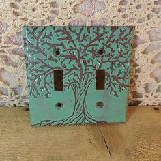 Copper Enamel Double Light Switch Cover Plate By Allfiredup358 34 00