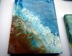 Resin art abctract