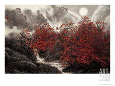 Autumn Mist Art Print by Baogui Zhang at Art.com