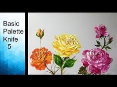 Flower Drawings Techniques Paint Rose flowers with Acrylic Paints and a Palette Knife - Basic Acrylic Techniques - Episode 5 Hello everyone This is the tutorial on using the palette kn. Acrylic Painting Flowers, Watercolor Painting Techniques, Acrylic Art, Acrylic Paintings, Art Paintings, Painting & Drawing, Paint Flowers, Portrait Paintings, Pallette Knife Painting