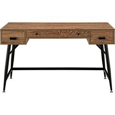 Designed to present a contemporary take on excess inventory, the Surge desk is a rustic piece that reclaims and repurposes the sentiments of old. Made with a wood grain-patterned melamine top and powd