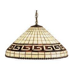 Meyda Tiffany Deco Greek 3-Light Bowl Pendant