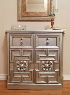 metallic finish dresser