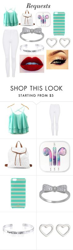 """Requests"" by hope-257 ❤ liked on Polyvore featuring Topshop, Charlotte Russe, Kate Spade, Disney and Marc by Marc Jacobs"