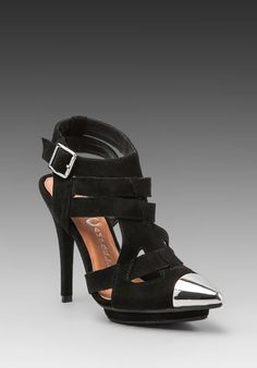 JEFFREY CAMPBELL Dont-Even in Black Suede/Silver