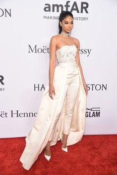 On the Scene: The 2016 amfAR New York Gala with Cindy Bruna in Zac Posen, Rose Bertram in Mety Choa Couture, Anais Mali, and More!