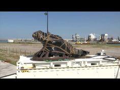 Un iguane s'installe à Calais - YouTube Calais, Tonne, Lion Sculpture, Statue, Art, Iguanas, Art Background, Kunst, Performing Arts