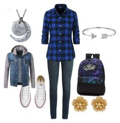 """""""Fall"""" by sammyduerr on Polyvore featuring Yves Saint Laurent, Converse, Vans, Bling Jewelry and Miriam Haskell"""