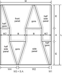 Apron Dress - pattern / layout
