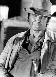 Charles Bronson (Harmonica) in Once Upon A Time In The West. 'Yeah, go on. Play, Harmonica. Play, so you can't bullshit.'